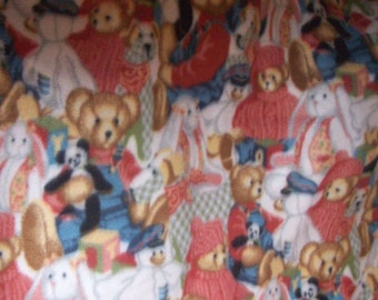 "Teddy Bear fleece new 1 yard x 54"" wide 100% polyester"