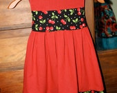 Cherries and polka dots girl's dress size 3/4