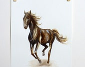 Chocolate Pony - an original watercolour