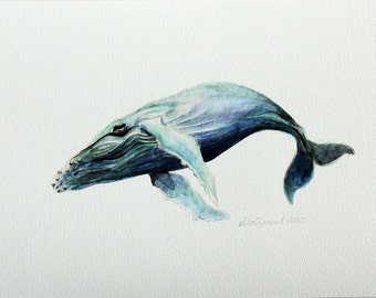Humpback Whale - an Aquatic Beastie Giclee Print