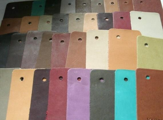 leather scraps 36 pieces aniline european cowhides, style renaissance vacona destash, patchworking, scrapbooking, miniature books