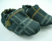plaid corduroy boy booties