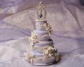 "1:12 Scale Dollhouse Miniature Wedding Cake--""Romance"""
