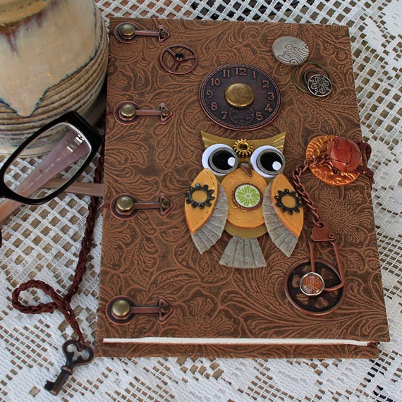 Steampunk Faux Leather Coptic Blank Journal/Sketch Book