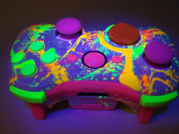 Items similar to Neon Paint Ball Custom Xbox 360 ...