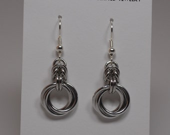 Silver Knot and Byzantine earrings