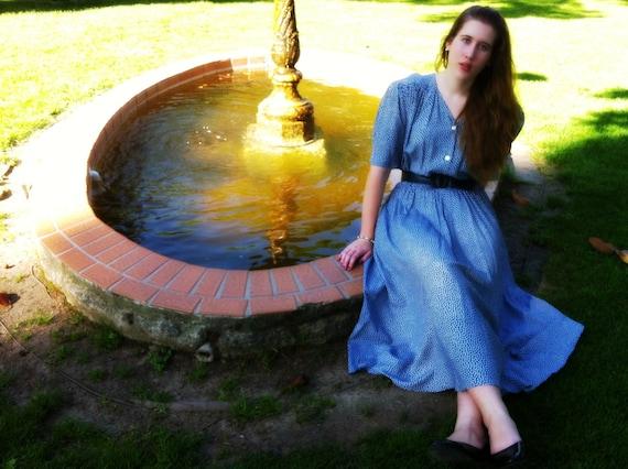 Blue Polka Dotted Carol Anderson Dress