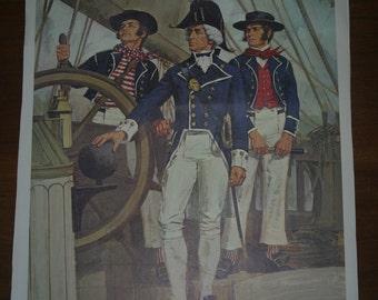 Royal Navy Lithograph War of 1812