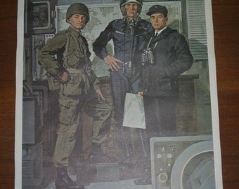 Vintage Lithograph - Canada's Military in 1967