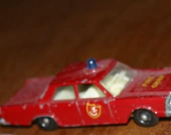 Matchbox by Lesney No. 55/59 Ford Galaxie Fire Chief Car