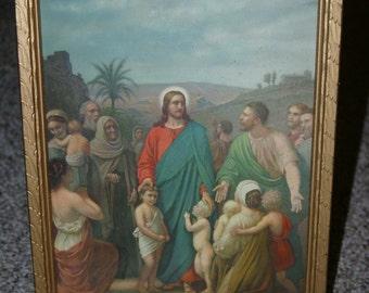 Religious Lithograph- Jesus