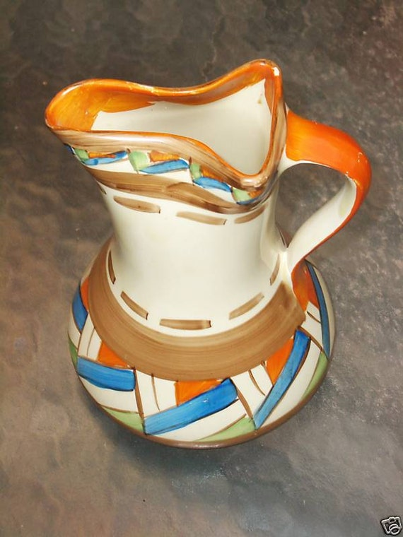 Myott Pinched-Neck Pitcher - Made in England