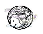 Digital Stamp: Fishy