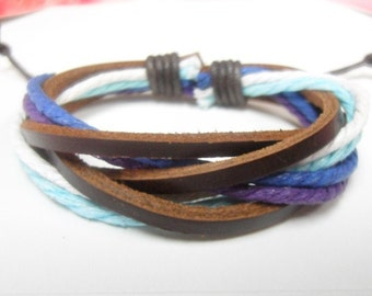 Leather bracelet 020