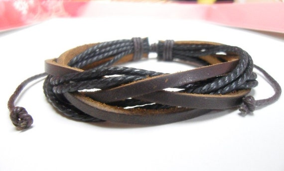 Leather bracelet 027