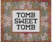 Disney Haunted Mansion Tomb Sweet Tomb Cross Stitch Sampler Pattern PDF (Pattern Only)