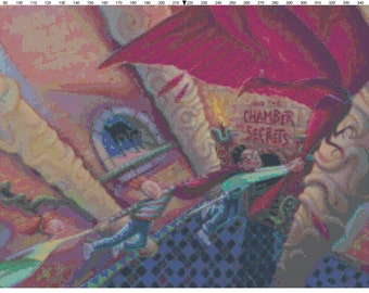 Small Size Harry Potter and the Chamber of Secrets Book Cover Cross Stitch Pattern PDF (Pattern Only)