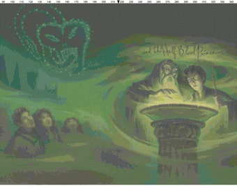 Small Size Harry Potter and the Half-Blood Prince Book Cover Cross Stitch Pattern PDF (Pattern Only)
