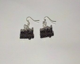 Mischief Managed Marauder's Map Harry Potter Inspired Earrings