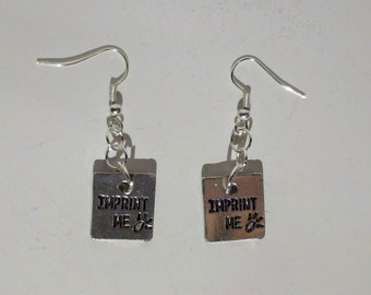 Imprint Me Twilight Team Jacob Earrings