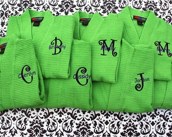 Weddings - 7 Personalized Robes for Bridesmaids - 7 Monogrammed Gifts for Bridesmaids - Wedding Party Gifts - Set of 7 - Weddings