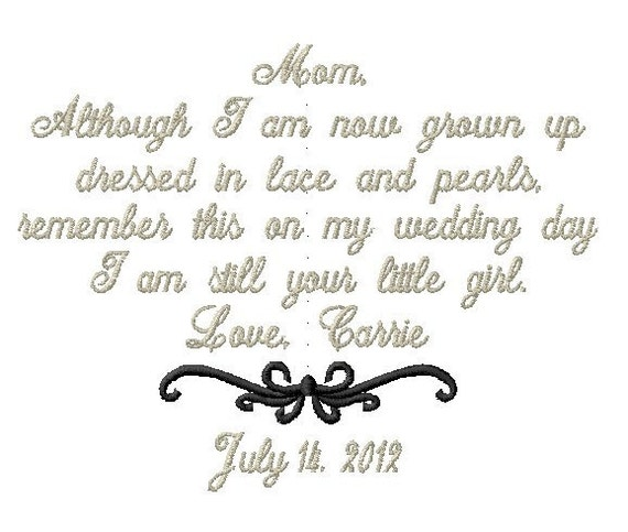 Mother of the Bride Handkerchief - LACE AND PEARLS - I am still your little girl - Wedding Handkerchief - Hanky Hankie Bridal Wedding