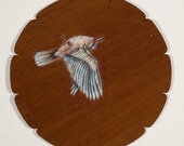 BIRD PAINTING - Original oil painting on found wood