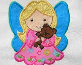 ANGEL Applique and Embroidered Quilt Block by Amy