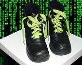 Reconstructed Neon Combat Boots