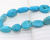 Oval  Blue Turquoise Beads----15-18mm----about  11pieces