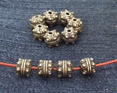 20 pcs of charm flowers ball antique bronze plated  beads metal findings Beads ----7mmx8mm ----- 20Pieces 2AB