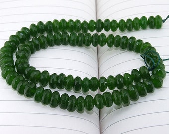 "strand Faceted HeiShi Oliven  Jade Beads ----- 4mmx8mm ----- about 80Pieces ----- gemstone beads--- 15"" in length"