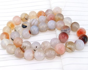One Full Strand--- Round Candy  Agate Gemstone Beads----10mm ----about 40Pieces----15.5inch strand