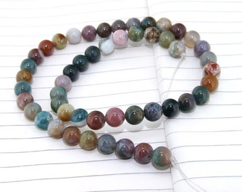 One Full Strand--- Round Candy Agate Gemstone Beads----8mm ----about 48Pieces----15inch strand