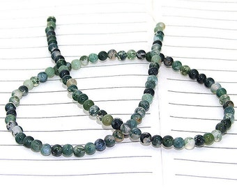 One Full Strand--- Round Candy Green Agate Gemstone Beads----4mm ----about 100Pieces----15inch strand