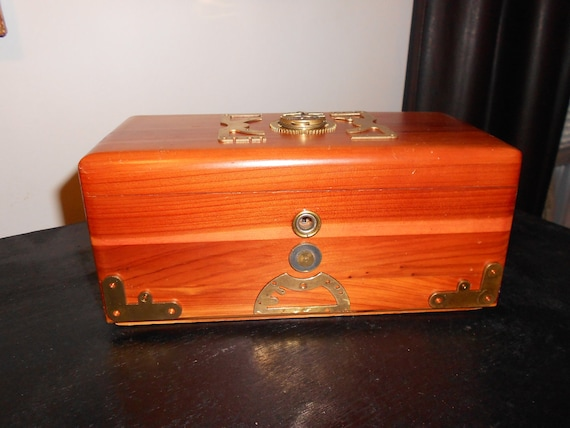 Steampunk Time Flux Jewelry Box - CUSTOM MONOGRAMMED