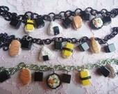 Handmade Polymer Clay Sushi Bracelet