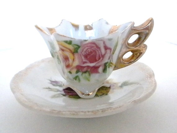 Vintage Tea Cup and Saucer, 1950s