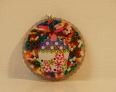 Candy Sprinkles Cupcake Pendant