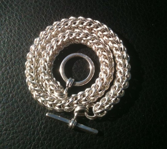 Unisex Sterling Silver Chain Chainmaille Bracelet