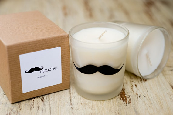 Mustache Respect Candle