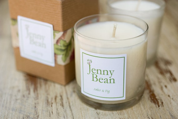 Amber & Fig Fragrant Soy Candle
