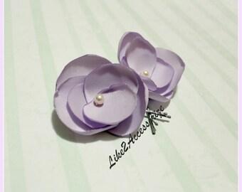 Lavender Purple Lilac Flower Clip Bridal Hair Accessories Bridesmaid Flower Hair Clip Bridal Hair Piece Wedding Headpiece Bridal Hair Flower