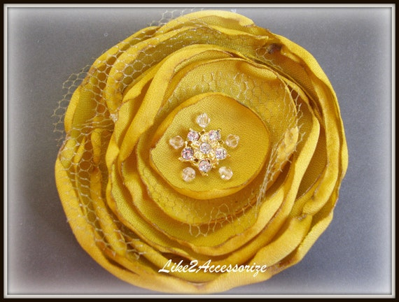 Fall Wedding Hair Clip Vintage Bridal Headpiece Crystal Brown Fabric Hair Flower Hair Accessories Bridal Hair Flower Bridesmaid Gift Set