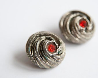 Vintage silver toned earrings from the 60's