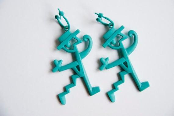 Vintage plastic earrings by designer Javier Mariscal