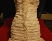 Vintage small white ruffle dress