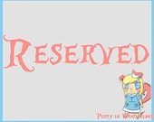 Reserved for Jessica Evans. Do not buy if this is not your name.