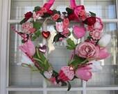 VALENTINES WREATH: Pretty In Pink