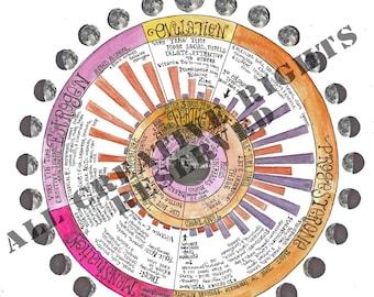 Womyn's Lunar Rhythm Calendar - JPEG DOWNLOAD